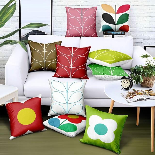 oboustranný povlak na polštář 1ks umělé prádlo měkké dekorativní čtvercové polštáře na pohovku ložnice autosedačka vynikající kvalita venkovní polštář na terasu zahradní sedací lavice gauč