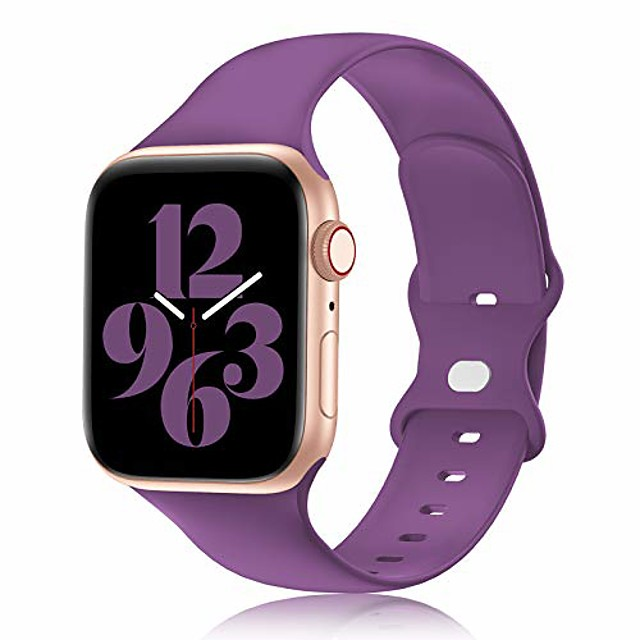 compatible with apple watch band 38mm 40mm 42mm 44mm women and men,soft silicone replacement strap band for iwatch series 6 5 4 3 2 1 se