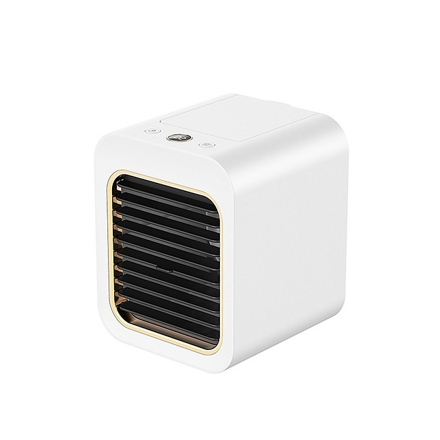 Mini Portable Air Cooler Air Conditioner Up and Down Free Ajustment USB Personal Space Cooler Fan Air Cooling Fan Rechargeable Fan Desk