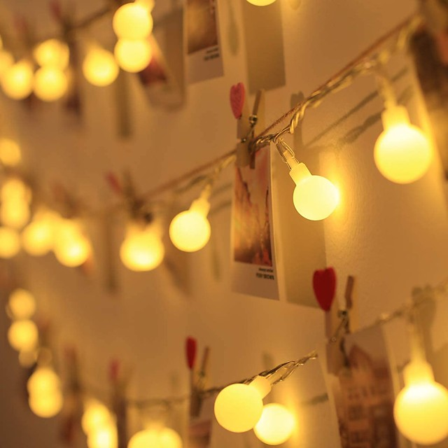 LED Ball String Light Outdoor Wedding Decoration 10M Ball Chain Fairy Garland Lights Bulb Light Waterproof for Outdoor Wedding Christmas Home Bedroom Decoration