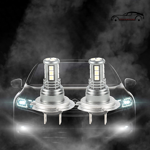OTOLAMPARA 55W Halogen Bulb Power More Brighter Car LED Bulb H7 H4 H10 H11 H16 6500K LED Front Replacement Bulbs 2pcs