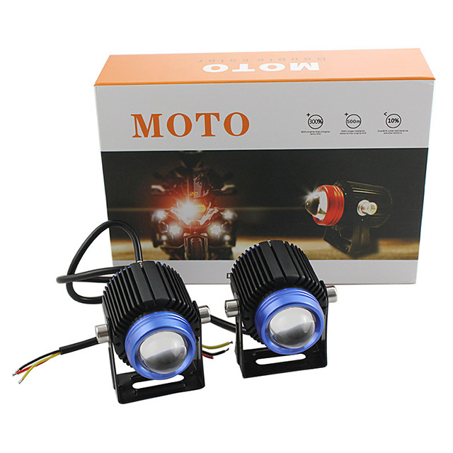 car and motorcycle spotlights led headlights electric car modified lights small steel cannon spotlights headlights white and yellow double color