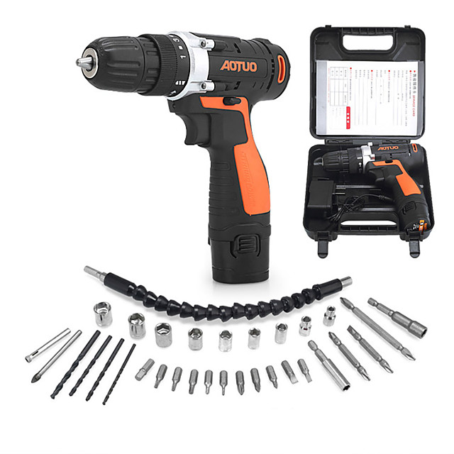 32Pcs Multi-Functional Electric Drill Set 12V Electric Drill For Handling Screws Punching