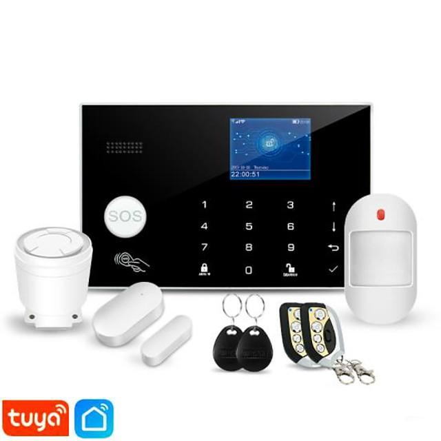 awaywar tuya 433mhz wireless wifi gsm rfid security alarm system kit app remote control burglar smart home pir door detector