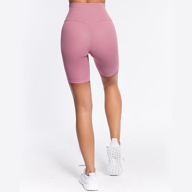 LITB Basic Women's High Elastic Shorts Sports Short Stretchy Active Yoga Jogging Outdoor Wear