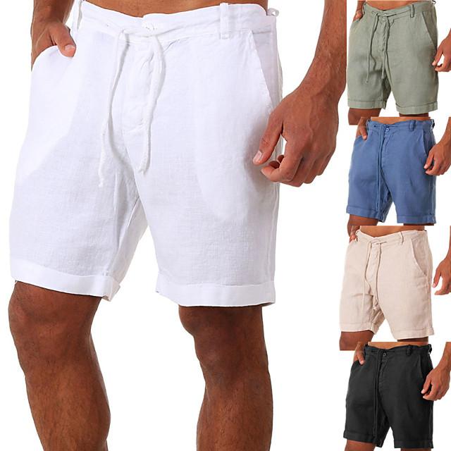 męskie spodenki do jogi spodenki ze sznurkiem spodenki bermudy szybkie wysychanie jednolity kolor biały czarny niebieski na co dzień joga fitness siłownia trening lato sport odzież sportowa