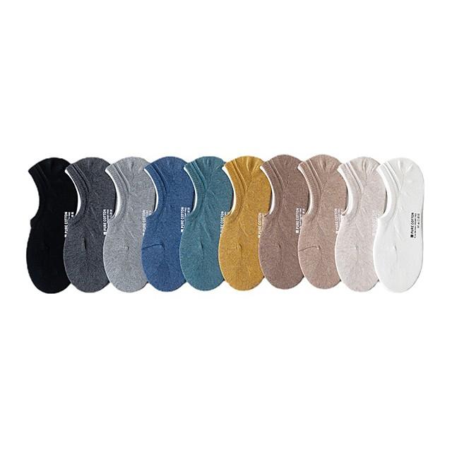 Men's Socks Plain Socks Medium Causal Light Blue