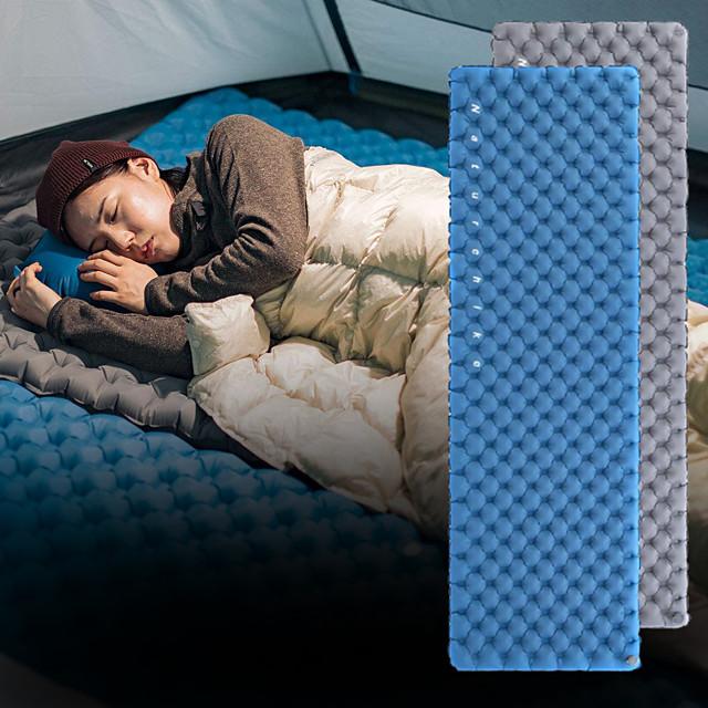 Naturehike Colchoneta de dormir Colchón Inflable de dormir Colchoneta hinchable Al aire libre Cámping Impermeable Multicapa Utra ligero (UL) A Prueba de Humedad TPU Nailon 195*62*8 cm para 1 Persona