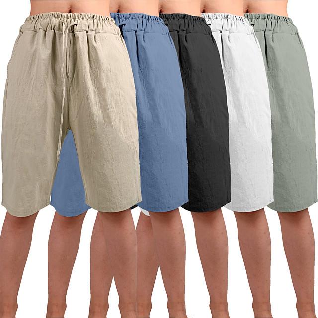 muške joga kratke hlače kratke hlače donji dio bermude kratke hlače vlaga brzo suho prozračno jednobojna bijela crna plava ležerna joga fitness teretana vježba ljetni sportovi aktivna odjeća