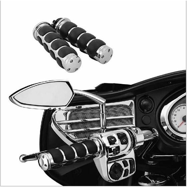 2PCS Motorcycle Handlebar Grips with Throttle Control Non-slip Hand Grip for Motorcycles Harley Cruisers 25mm