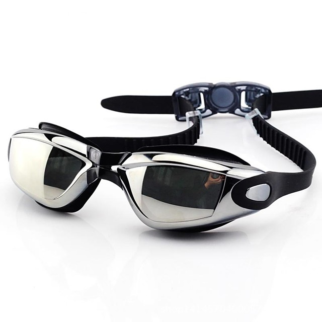 Óculos de Natação Prova-de-Água Proteção UV Anti-Nevoeiro Anti-Estilhaços Tamanho Ajustável Prescrição Para Gel de Sílica PC Vermelho Preto Prateado Cinzento / Banhado