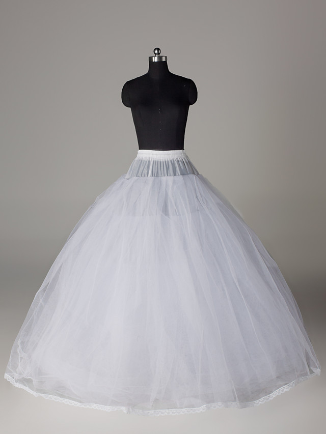 Wedding / Special Occasion / Party / Evening Slips Nylon / Tulle Floor-length Ball Gown Slip / Classic & Timeless with