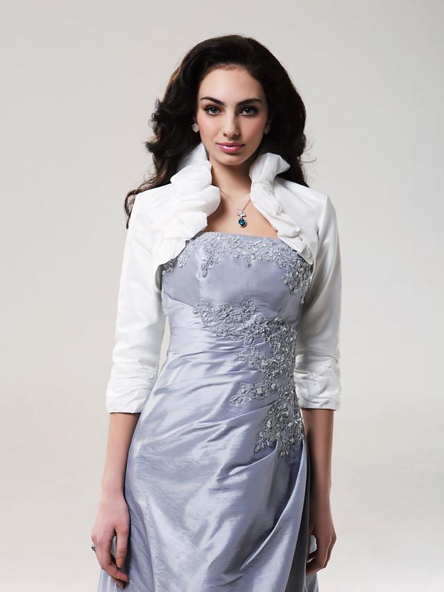 Coats / Jackets Taffeta Wedding Wedding  Wraps With Ruffles