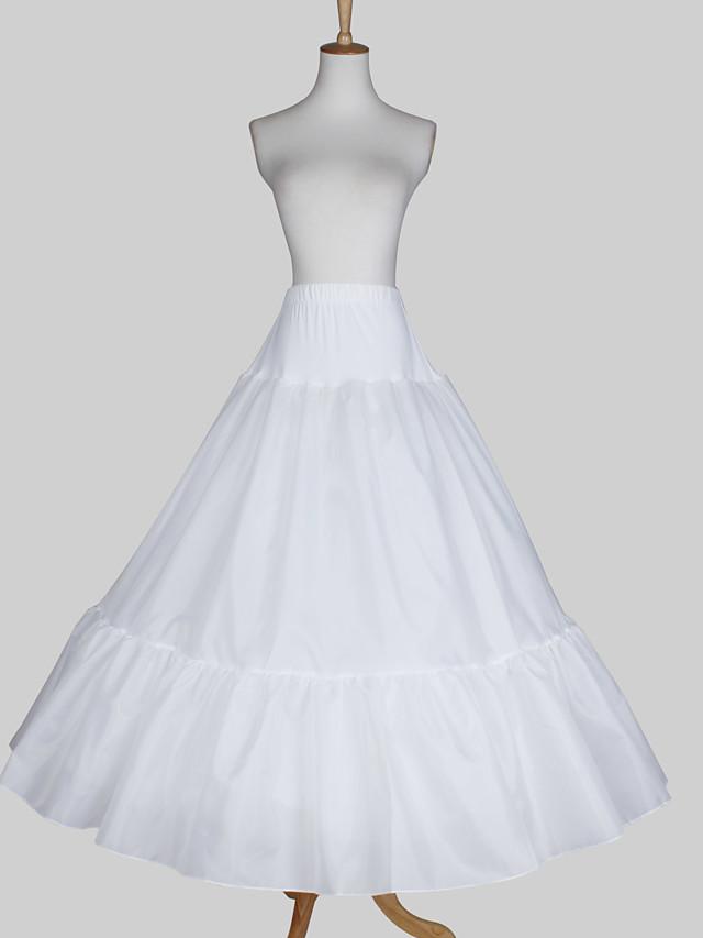 Wedding / Special Occasion Slips Satin / Taffeta Floor-length A-Line Slip / Ball Gown Slip with