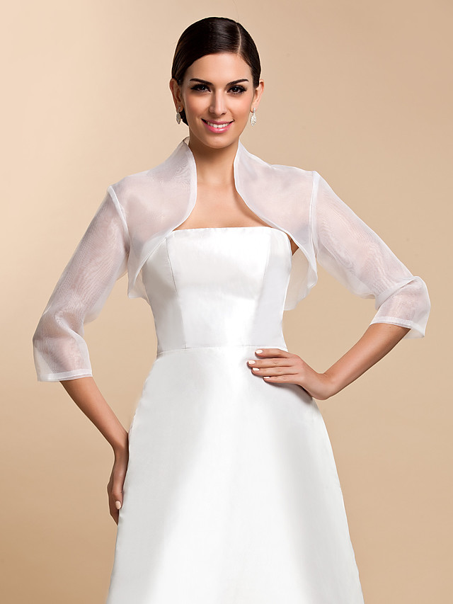 Coats / Jackets Organza Wedding / Party Evening / Casual Wedding  Wraps With