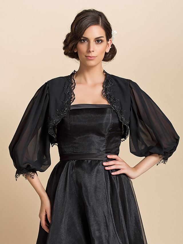 Coats / Jackets Chiffon Wedding / Party Evening / Casual Wedding  Wraps With
