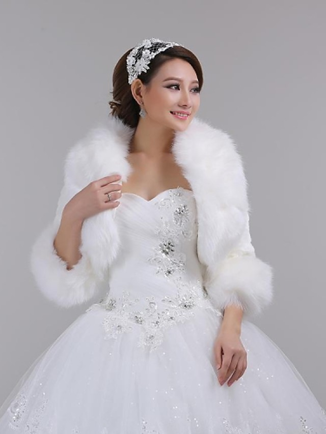 manteaux d'hiver vestes soild fausse fourrure fête de mariage soirée de mariage enveloppes de fourrure enveloppes fausse fourrure châle fausse fourrure stoel