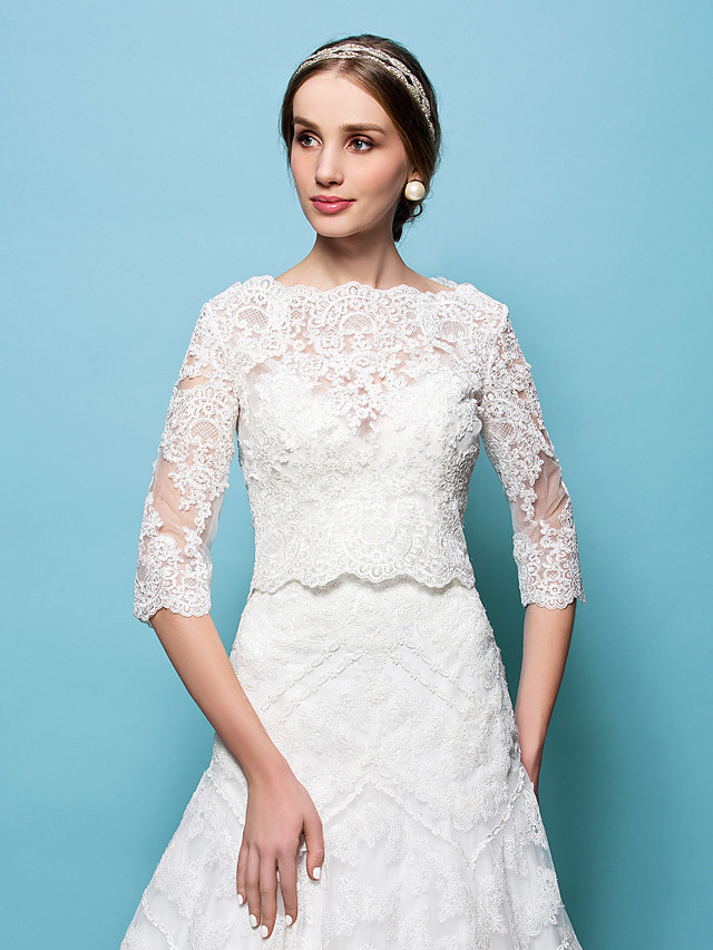 Capelets Lace Wedding / Party Evening Wedding  Wraps With
