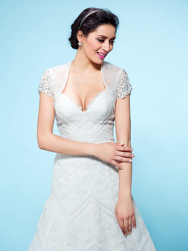 Shrugs Tulle Wedding / Party Evening Wedding  Wraps With