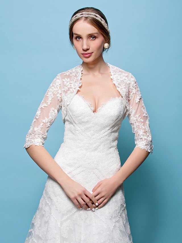 Shrugs Lace Wedding / Party Evening Wedding  Wraps With
