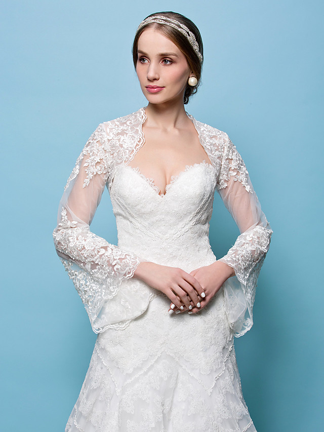 Shrugs Lace Wedding / Party Evening Wedding  Wraps With