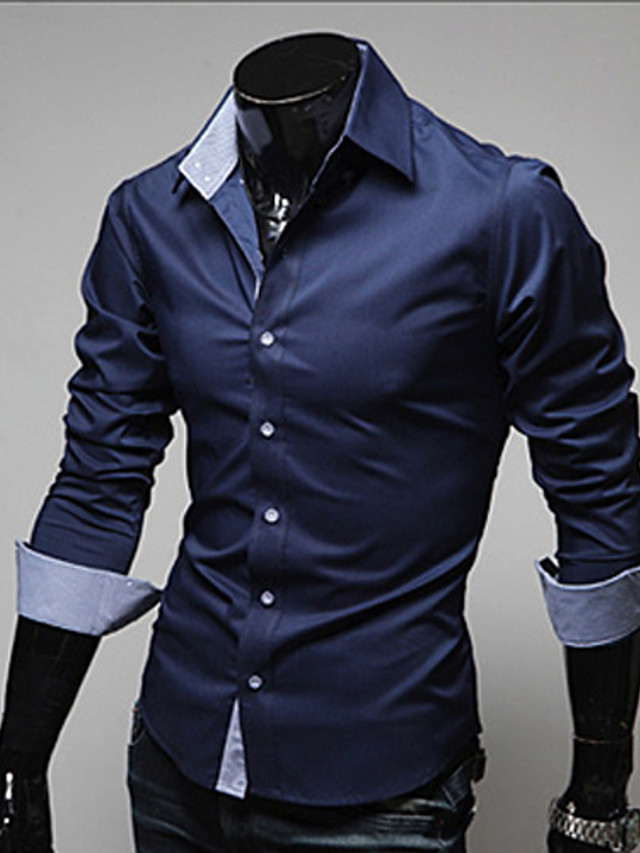 Coolred-Men Chinese Style Outwear Long Sleeve Casual Solid Linen Shirts