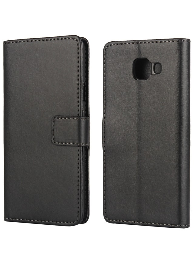 Case For Samsung Galaxy A3(2016) Card Holder / with Stand / Flip Full Body Cases Solid Colored PU Leather