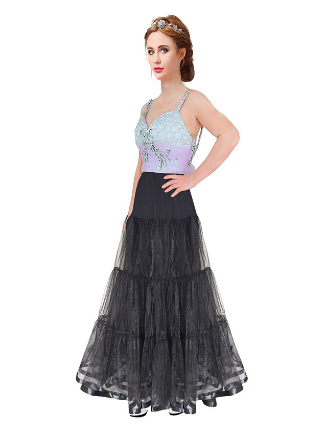 Wedding / Special Occasion / Party / Evening Slips Organza / Satin / Tulle Floor-length A-Line Slip / Classic & Timeless with