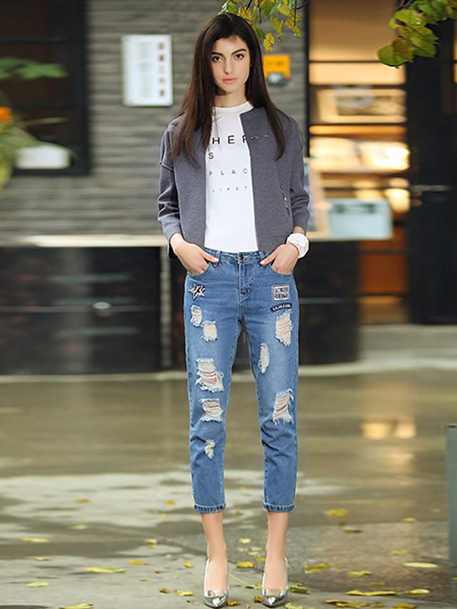 ZIP Jeans Farkut Elsa Medium blue 71 % puuvilla, 18 % polyesteri, 9 % viskoosi, 2 % elastaani FTZRUOBM12 Naisten vaatteet