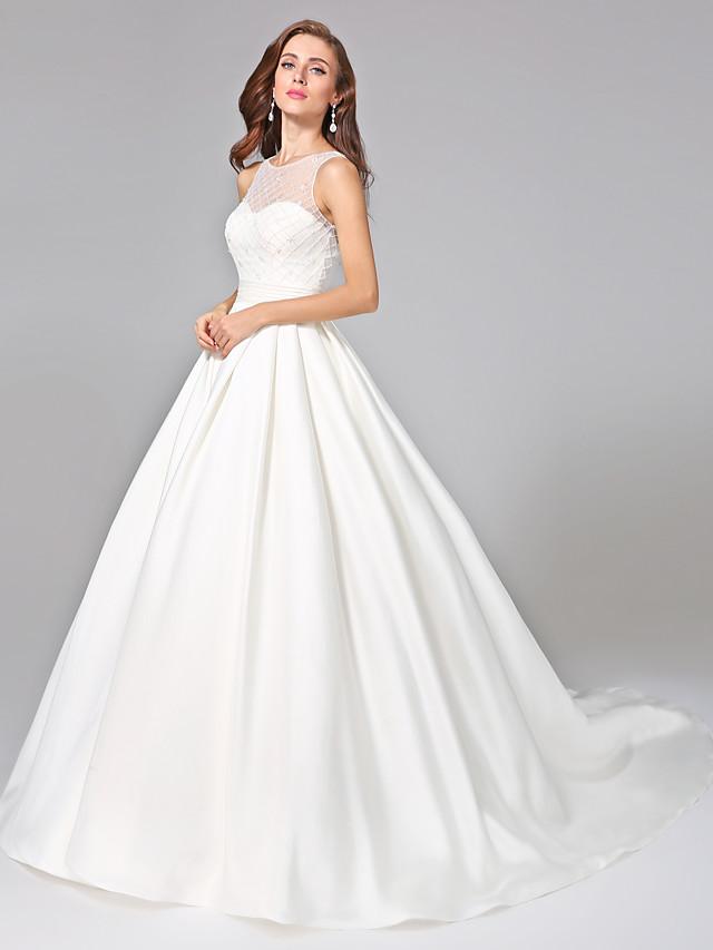 Robe de Soirée Robes de mariée Bateau Neck