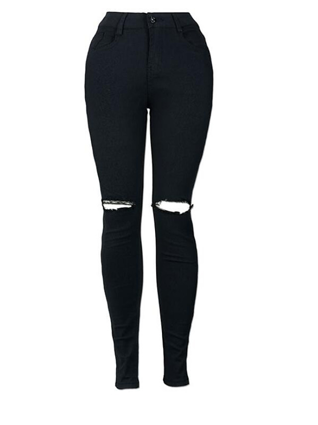Street chic Daily Skinny Skinny / Jeans Pants - Solid Colored Winter Black S M L / Sexy