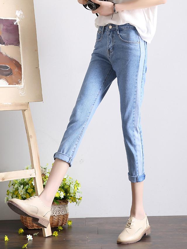 Punto De Hacer Realidad La Primavera 2017 Nueva Version Coreana De La Mujer Golpeo Pantalones Vaqueros Flojos Ocasionales De Color Oscuro 5606645 2021 15 39