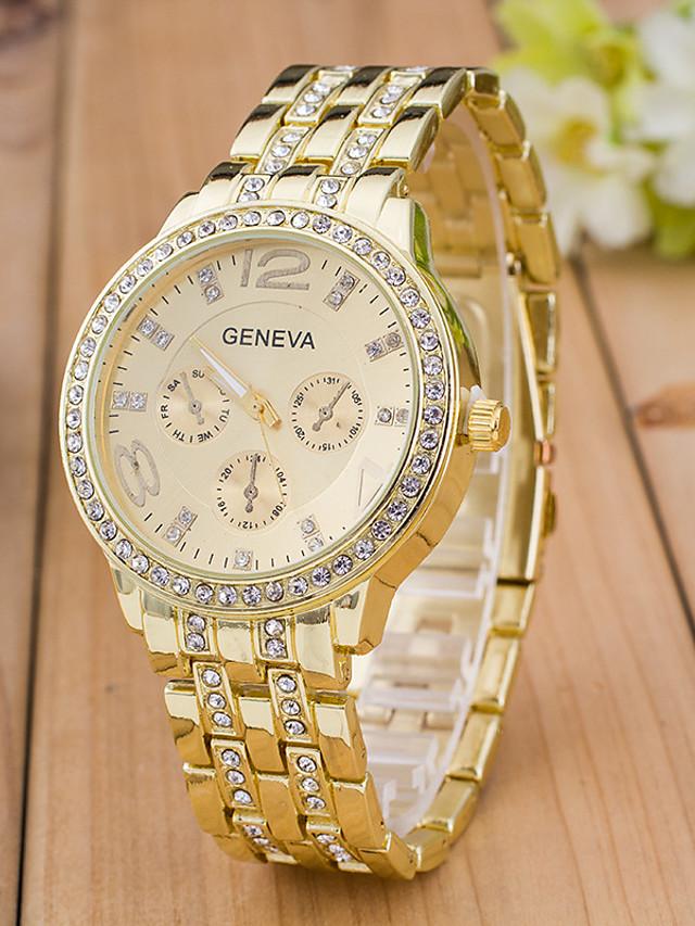 Women's Ladies Sport Watch Wrist Watch Analog Quartz Charm Fake Three Eyes Six Needles Rhinestone Imitation Diamond / Rose Gold Plated / One Year