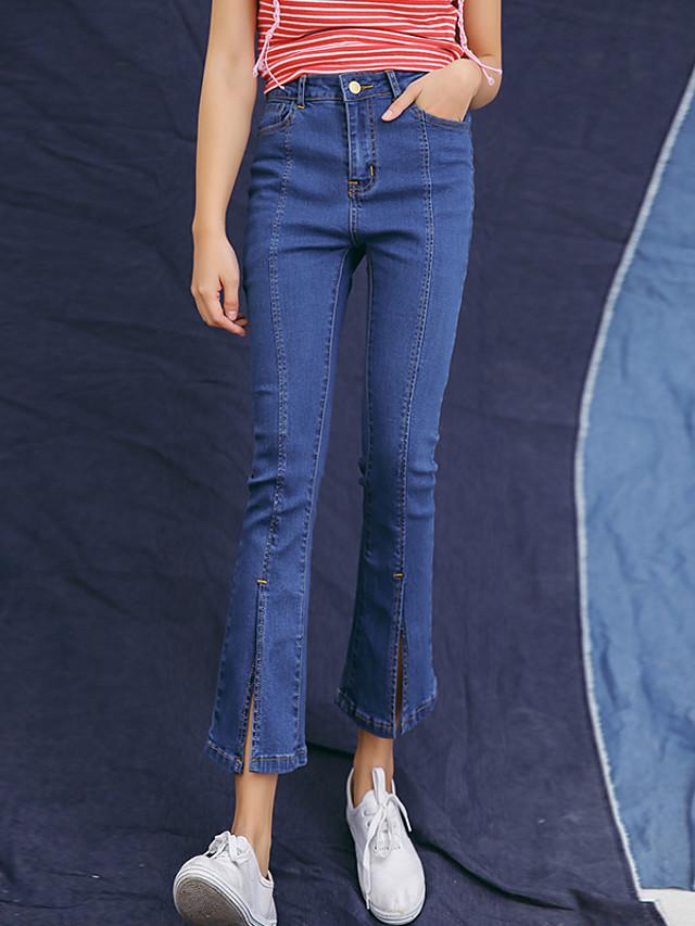 2017 Modelos De Primavera Nueve Altavoces Micro Pantalones De Pierna Ancha Slim Jeans Stretch Finas Medias De Mujer Flash Mujer 5616638 2021 15 39