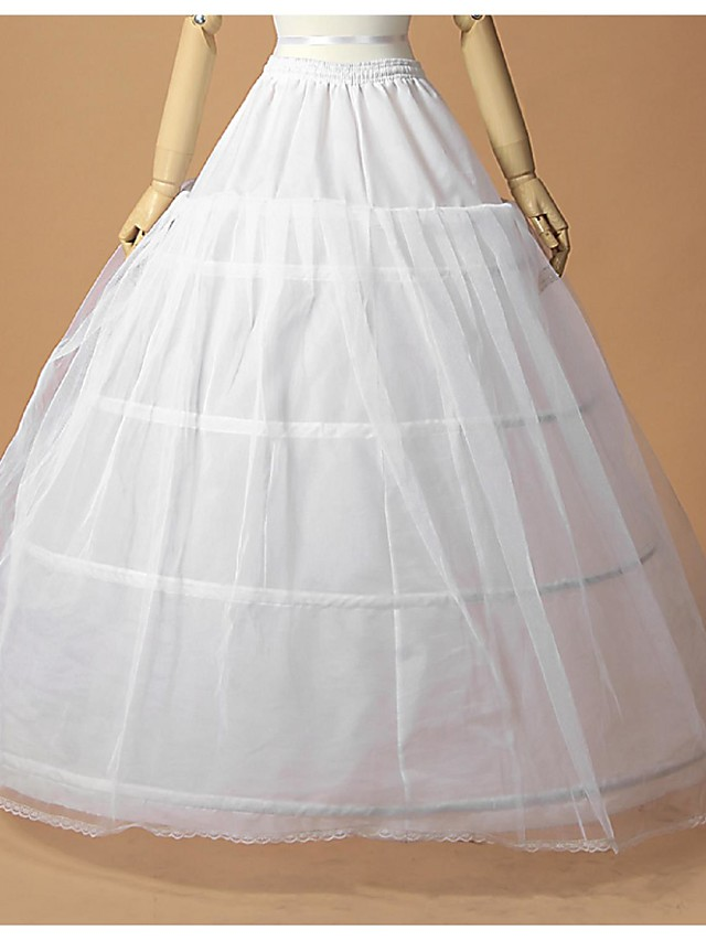 Wedding / Special Occasion Slips Tulle / Polyester Floor-length A-Line Slip / Ball Gown Slip with