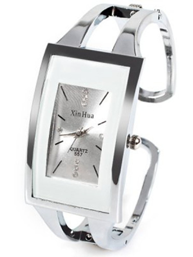 Women's Ladies Fashion Watch Unique Creative Watch Square Watch Quartz Casual Rhinestone Silver Analog - White One Year Battery Life / Imitation Diamond / SSUO LR626