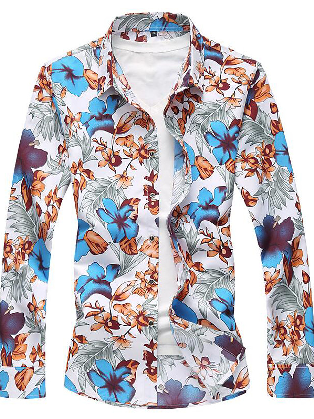 Men's Shirt - Floral Floral Style / Long Sleeve