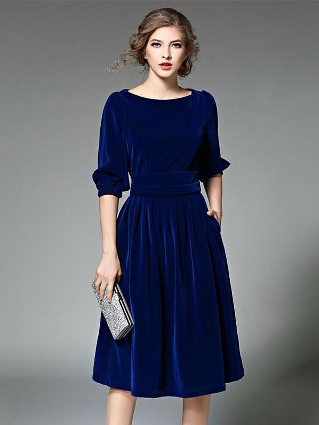 Платья Синие С Бордовым