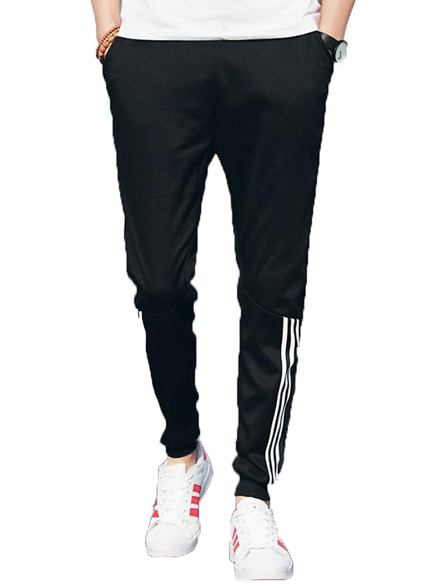 Men's Active Plus Size Cotton Harem / Sweatpants Pants - Solid Colored Black XL / Fall