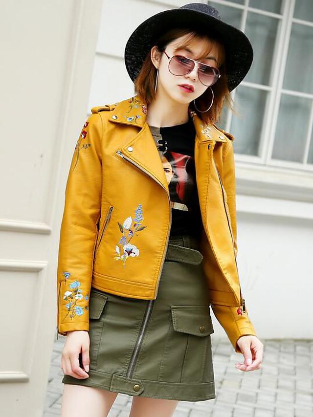 Women's Simple Casual Jacket Print