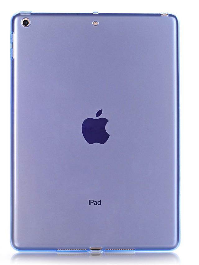 Case For Apple iPad Air / iPad 4/3/2 / iPad Mini 3/2/1 Transparent Back Cover Solid Colored Soft TPU / iPad (2017)