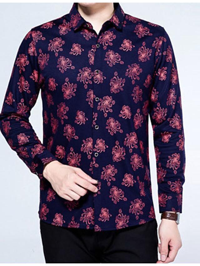 Men's Vintage Shirt - Floral / Long Sleeve