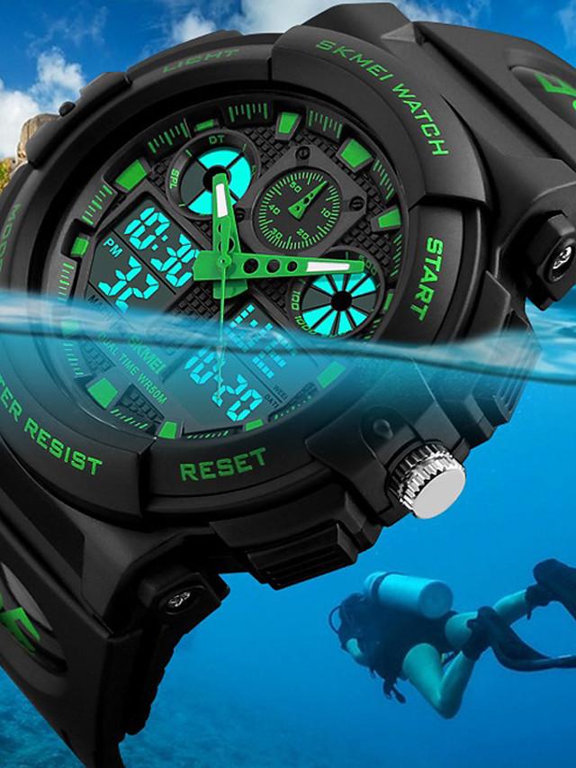 SKMEI Bărbați Ceas de Mână Ceas digital Vânătoare Watch Quartz Modă Rezistent la Apă Piele PU Matlasată Negru Analog - Digital - Negru Rosu Albastru Doi ani Durată de Viaţă Baterie / Japoneză