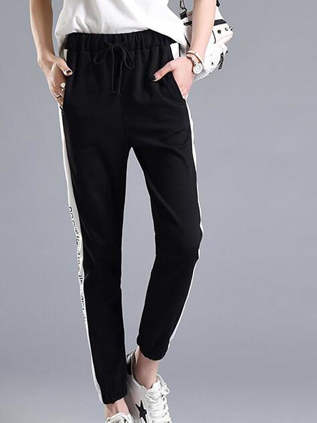 Mujer Diario Chinos Pantalones A Rayas Negro L Xl Xxl 6562690 2021 14 29