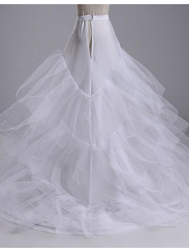 Wedding / Party Slips Cotton Cathedral-Length Chapel Train / Irregular Style with Gore
