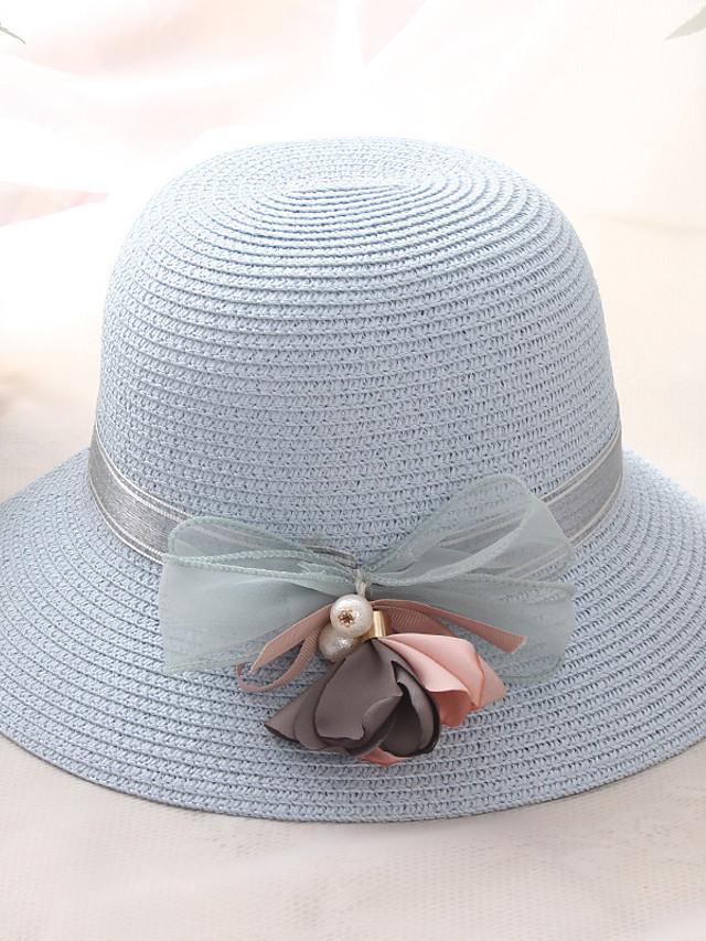 Per donna Essenziale Vacanze Cappello di paglia-Paglia ...