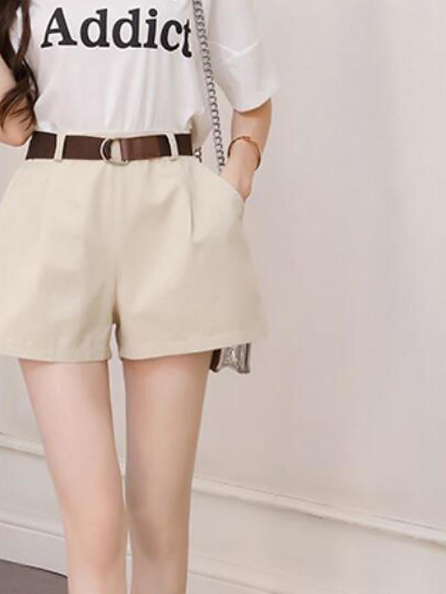Mujer Activo Tallas Grandes Algodon Shorts Pantalones Un Color Borlas Negro 6728786 2020 10 99