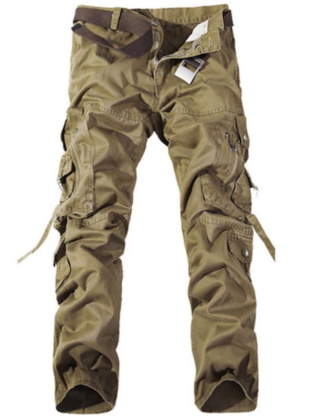 Hombre Militar Diario Pantalones Tipo Cargo Pantalones Un Color Negro Verde Ejercito Caqui 31 32 28 6833989 2021 21 99