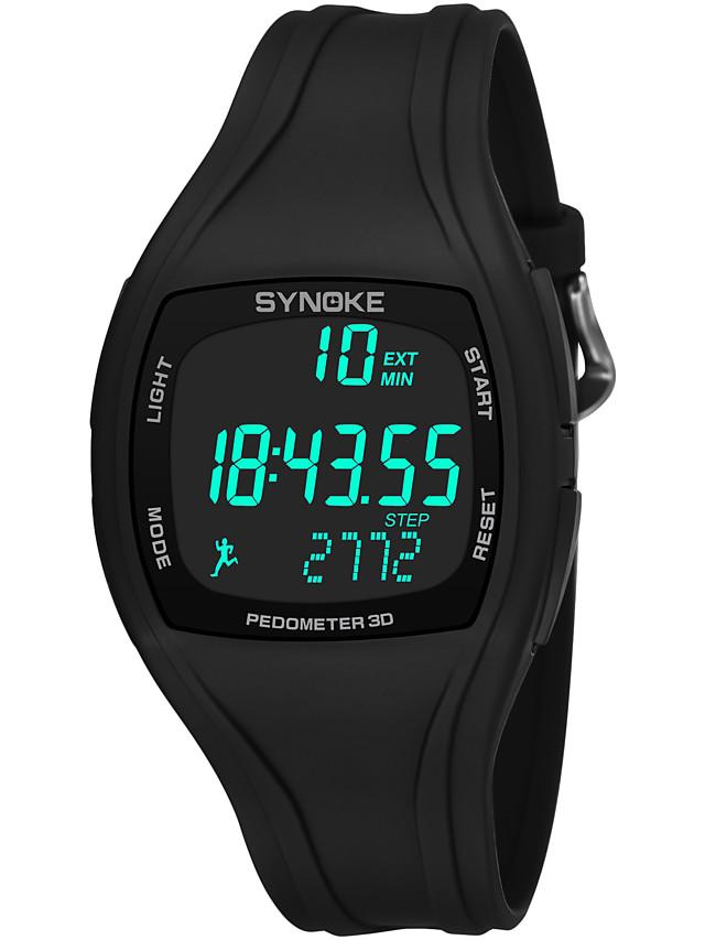 SYNOKE Men's Sport Watch Digital Watch Digital Digital Fashion Water Resistant / Waterproof Calendar / date / day Chronograph / Quilted PU Leather