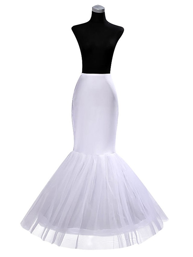 Wedding / Event / Party Slips POLY Gown Length Shaping Slips / Long with Pleats